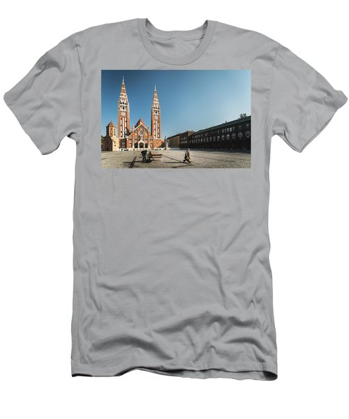 Garbage Cleaners On Dom Square In Szeged  Men's T-Shirt (Athletic Fit)