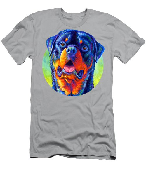 Gentle Guardian Colorful Rottweiler Dog Men's T-Shirt (Athletic Fit)