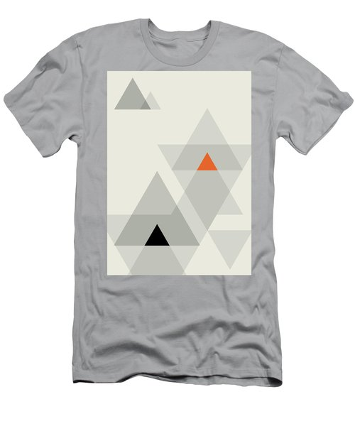 Men's T-Shirt (Athletic Fit) featuring the painting Geometric Painting 15 by Arttantra