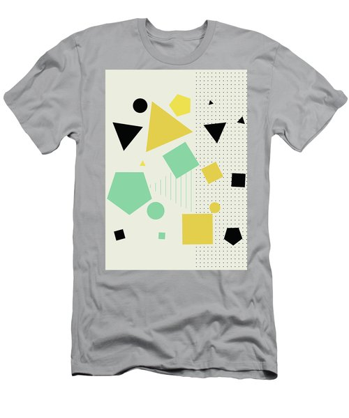 Men's T-Shirt (Athletic Fit) featuring the painting Geometric Painting 7  by Arttantra