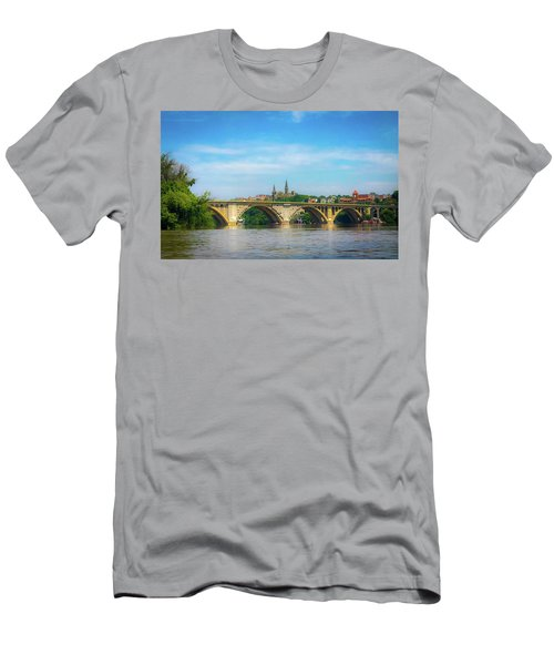 Men's T-Shirt (Athletic Fit) featuring the photograph Georgetown From The Potomac by Lora J Wilson