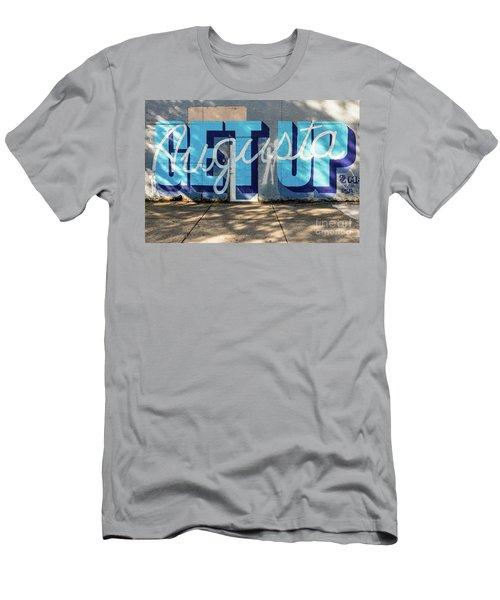 Get Up Augusta Ga Mural  Men's T-Shirt (Athletic Fit)
