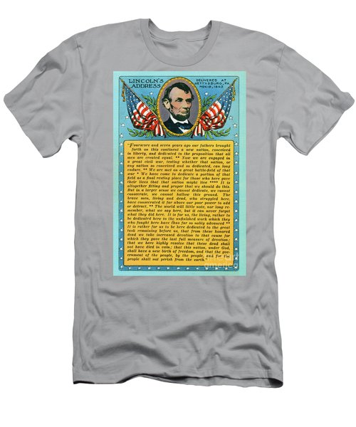 Gettysburg Address By Abraham Lincoln Men's T-Shirt (Athletic Fit)