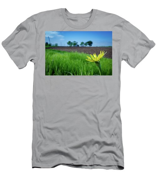 Men's T-Shirt (Athletic Fit) featuring the photograph Goat's Beard On Nelson Farm II by Jeff Phillippi
