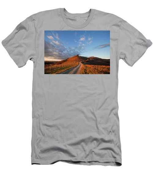 Men's T-Shirt (Athletic Fit) featuring the photograph Golden Hill by Davor Zerjav