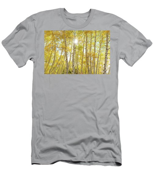 Men's T-Shirt (Athletic Fit) featuring the photograph Golden Sunshine On An Autumn Day by James BO Insogna