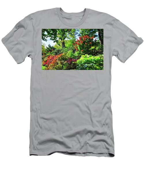 Men's T-Shirt (Athletic Fit) featuring the photograph Gorgeous Gardens At Cornell University - Ithaca, New York by Lynn Bauer