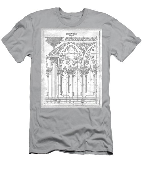 Men's T-Shirt (Athletic Fit) featuring the drawing Gothic Arches by James Fannin