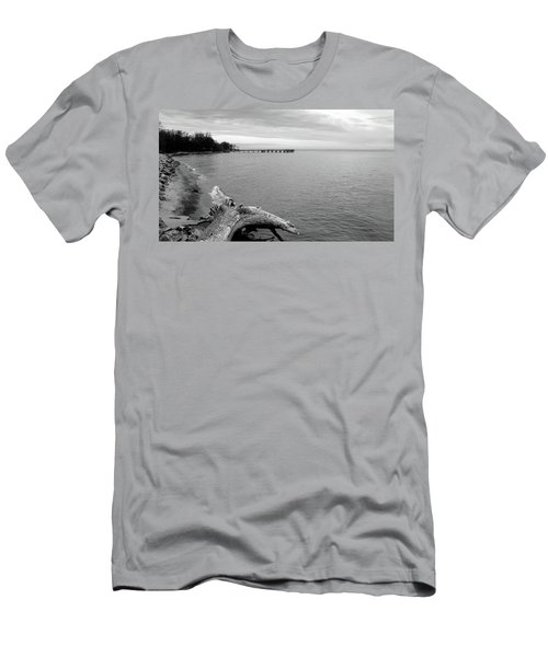 Gray Day On The Bay Men's T-Shirt (Athletic Fit)
