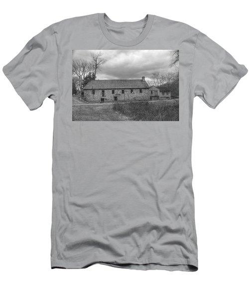 Grey Skies Over Fieldstone - Waterloo Village Men's T-Shirt (Athletic Fit)