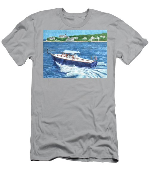 Men's T-Shirt (Athletic Fit) featuring the painting Great Ackpectations Nantucket by Dominic White