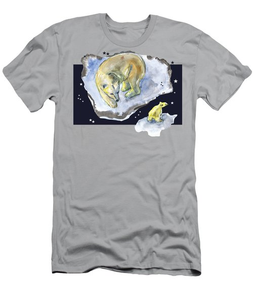 Men's T-Shirt (Athletic Fit) featuring the drawing Great Bear Family -  Ursa Major Constellation by Ariadna De Raadt
