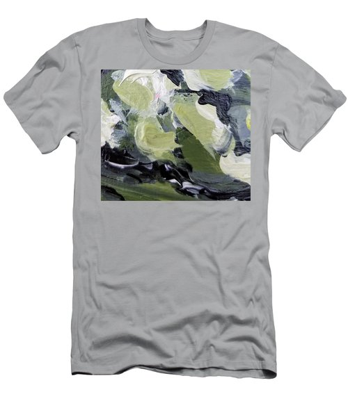 Men's T-Shirt (Athletic Fit) featuring the painting Green #1 by Maria Langgle
