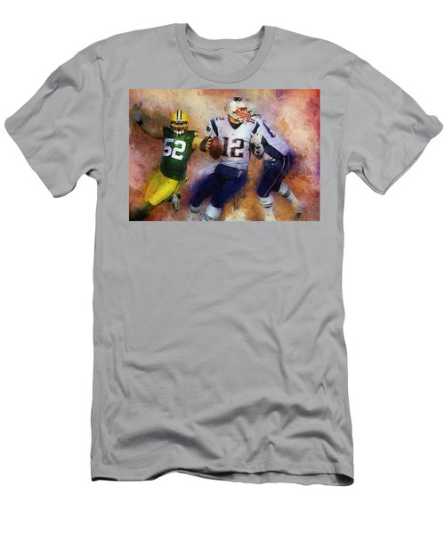 Green Bay Packers Against New England Patriots. Men's T-Shirt (Athletic Fit)