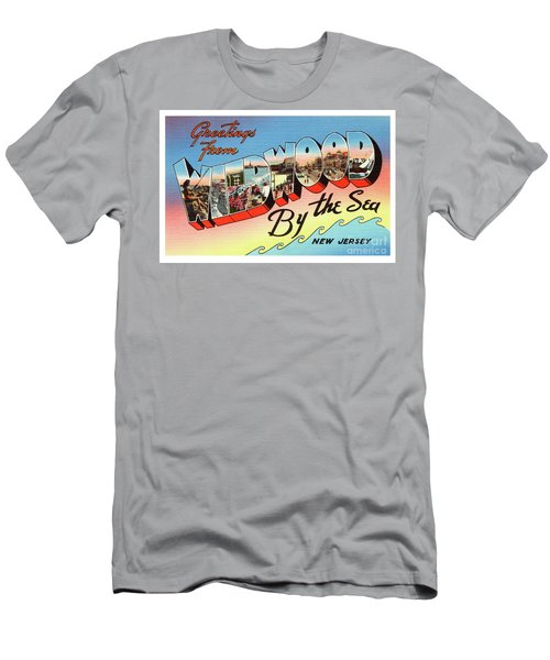 Men's T-Shirt (Athletic Fit) featuring the photograph Wildwood Greetings - Version 2 by Mark Miller