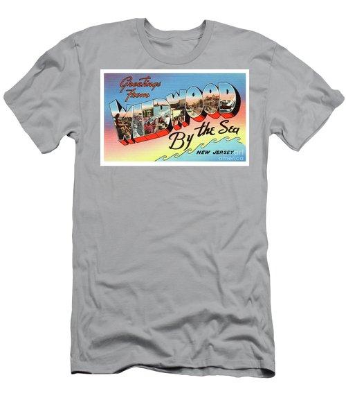 Wildwood Greetings - Version 2 Men's T-Shirt (Athletic Fit)