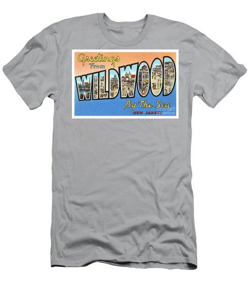 Wildwood Greetings - Version 4 Men's T-Shirt (Athletic Fit)