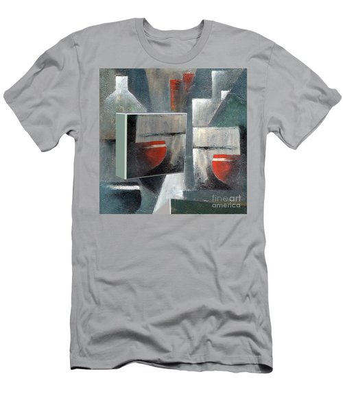 Men's T-Shirt (Athletic Fit) featuring the painting Reflections by Val Byrne