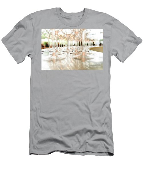 Group Of Empty Transparent Glasses Ready For A Party In A Bar. Men's T-Shirt (Athletic Fit)