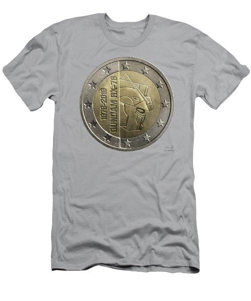 Gundam 40 Coin Light Gray Men's T-Shirt (Athletic Fit)