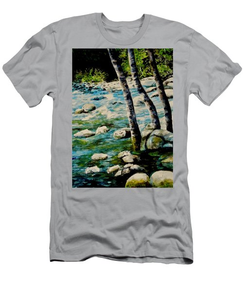 Gushing Waters Men's T-Shirt (Athletic Fit)