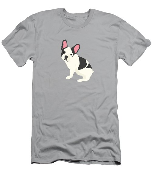 Hanging Plants And A French Bulldog In A Midcentury Interior Men's T-Shirt (Athletic Fit)