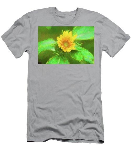 Happy Sunflowers Helianthus  001 Men's T-Shirt (Athletic Fit)