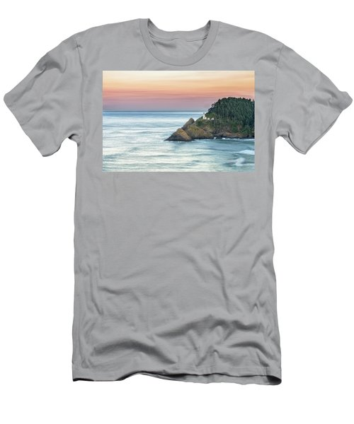 Heceta Lighthouse Men's T-Shirt (Athletic Fit)