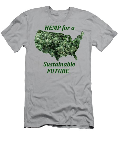 Hemp For A Sustainable Future Men's T-Shirt (Athletic Fit)