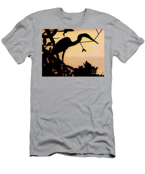 Heron Sunset Men's T-Shirt (Athletic Fit)