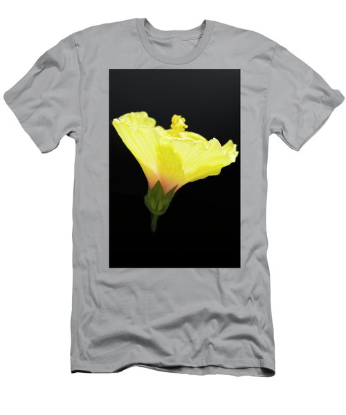 Hibiscus In Black Men's T-Shirt (Athletic Fit)