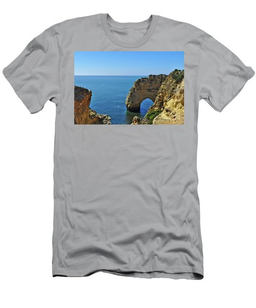 Hidden Arch In Marinha Beach Men's T-Shirt (Athletic Fit)