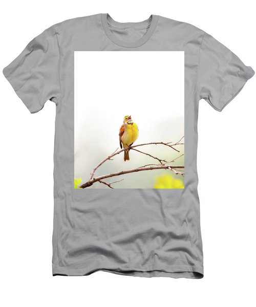 Men's T-Shirt (Athletic Fit) featuring the photograph High Key Dickcissel by Jeff Phillippi