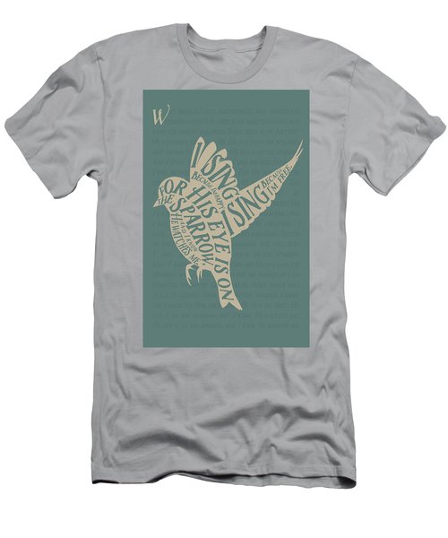 His Eye Is On The Sparrow Men's T-Shirt (Athletic Fit)