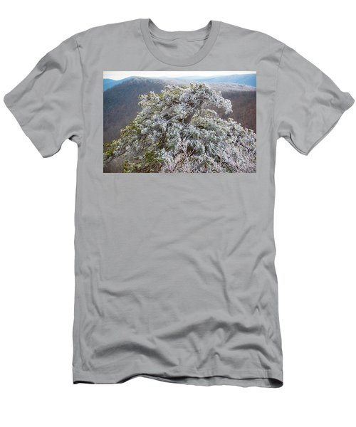 Hoarfrost On Trees Men's T-Shirt (Athletic Fit)