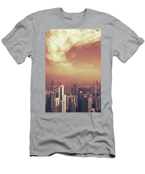 Hong Kong Portrait Men's T-Shirt (Athletic Fit)
