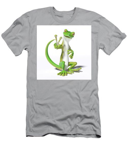 Hoping For Peace Gecko Men's T-Shirt (Athletic Fit)