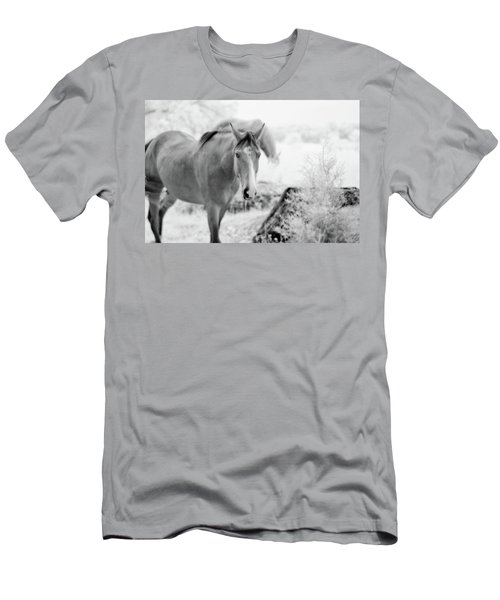 Horse In Infrared Men's T-Shirt (Athletic Fit)