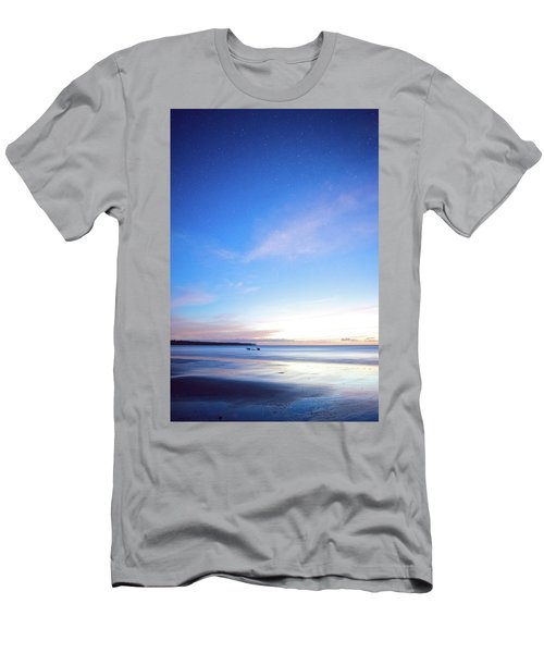 Horses Play In The Surf At Twilight Men's T-Shirt (Athletic Fit)
