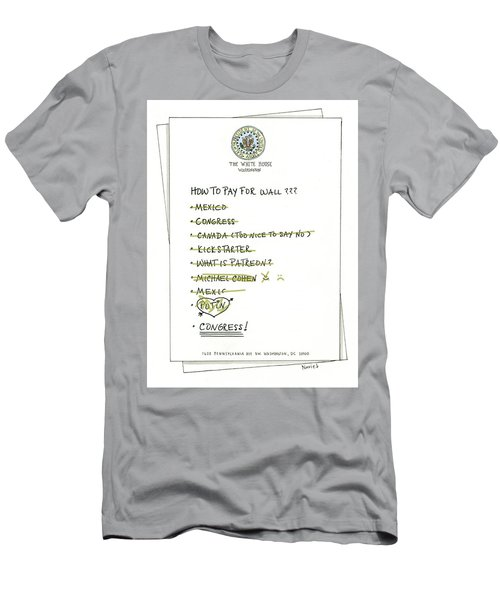 How To Pay For Wall  Men's T-Shirt (Athletic Fit)