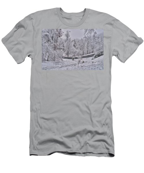 Men's T-Shirt (Athletic Fit) featuring the photograph Ice Storm by Meta Gatschenberger
