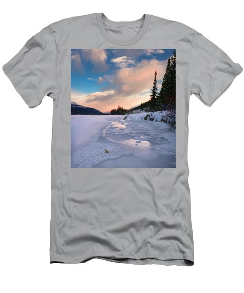 Icefields Parkway Winter Morning Men's T-Shirt (Athletic Fit)