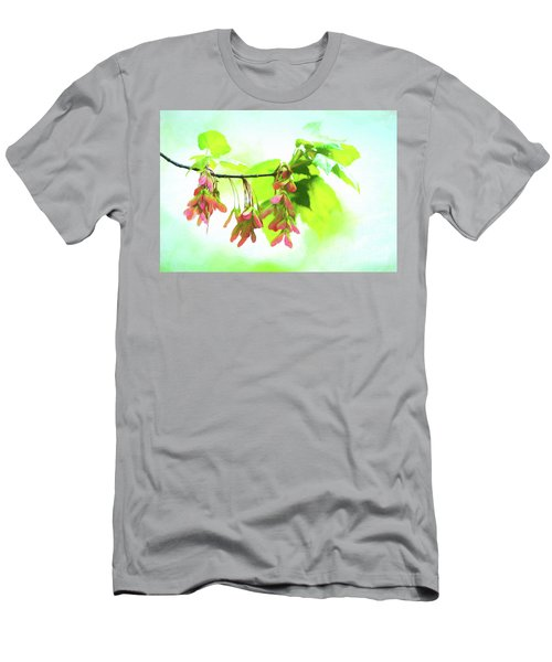 Impressionistic Maple Seeds And Foliage Men's T-Shirt (Athletic Fit)
