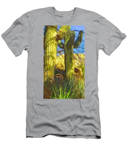 In The Shadow Of Saguaros Men's T-Shirt (Athletic Fit)