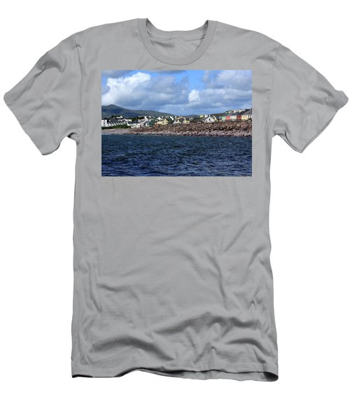 Men's T-Shirt (Athletic Fit) featuring the photograph Irish Seaside Village, Co Kerry  by Aidan Moran