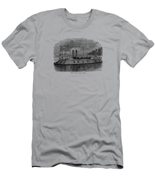 Ironclad River Gunboat Engraving - Union Civil War Men's T-Shirt (Athletic Fit)