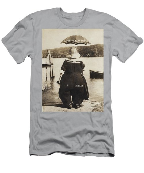 Men's T-Shirt (Athletic Fit) featuring the photograph It Floats - Version 1 by Mark Miller