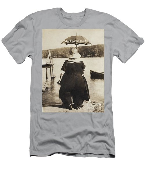 Men's T-Shirt (Athletic Fit) featuring the photograph It Floats - Version 2 by Mark Miller