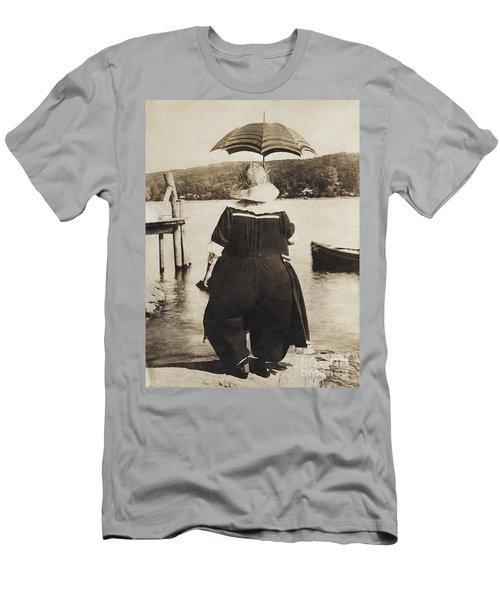 Men's T-Shirt (Athletic Fit) featuring the photograph It Floats - Version 4 by Mark Miller