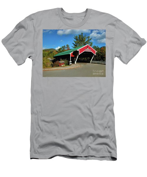 Men's T-Shirt (Athletic Fit) featuring the photograph Jackson Covered Bridge by Debbie Stahre